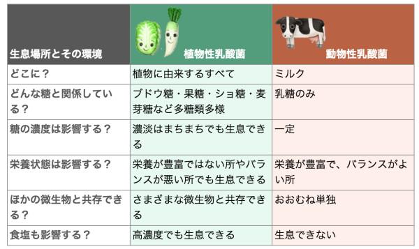 植物性乳酸菌と動物性乳酸菌の違い